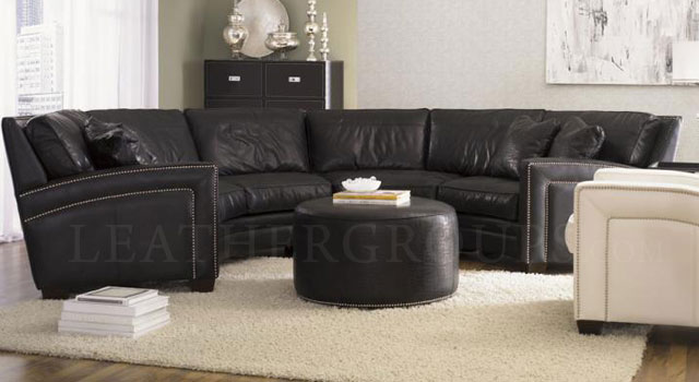 Beautiful Brentwood Leather Furniture   LeatherGroups.com. The Brentwood Curved  Leather Sectional ...
