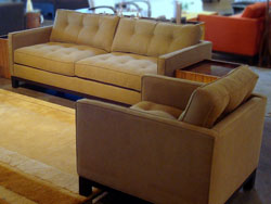 Cosmo Fabric Sofa and Chair Set - Iconix Collection